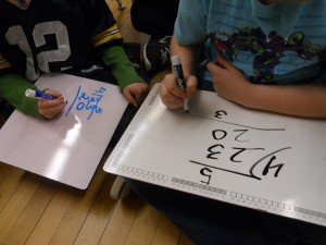 Whiteboards are great for practice.  The kids enjoy using them, and it makes it easy to see their work.