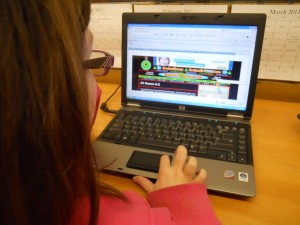 Students have fun with math concepts by playing games on websites like CoolMath.com.